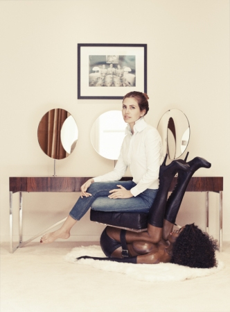 dasha-zhukova-black-woman-chair-miroslava-duma-buro-247-interview