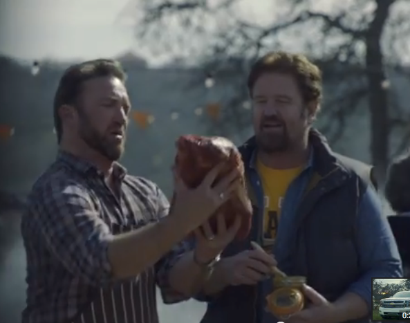 Thank God Chevy is here to teach men that trucks, meat, and heart disease are what they need to make the most of life. And while you're pumping pork, be sure to kick some sand in the eye of sensible foods.
