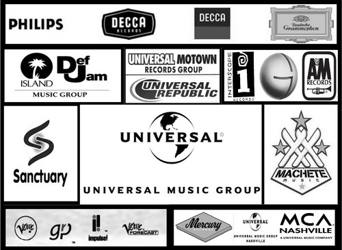 The label holdings of Universal, the largest of the four major music companies.  That's right, the majority of music in America is produced under one of four companies.