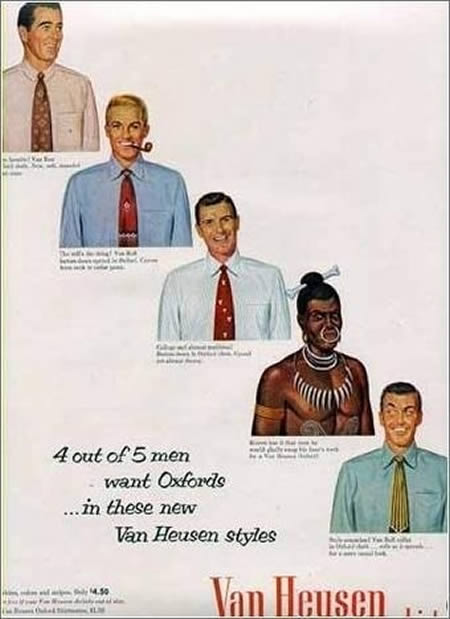 Yes, they made this, and they meant it, but you won't find this ad in Van Heusen's retro ad archive.