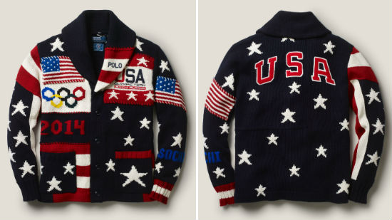 I'm so glad that Ralph Lauren had the Oluimpic uniforms made right here in the USA this time.  But what does this $500 sweater say about us?  Would you wear this?