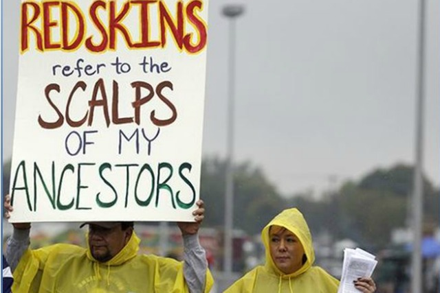 redskins protesters