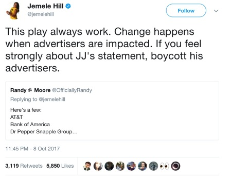 Jemele_Hill_on_Twitter___This_play_always_work__Change_happens_when_advertisers_are_impacted__If_you_feel_strongly_about_JJ_s_statement__boycott_his_advertisers__https___t_co_LFXJ9YQe74_
