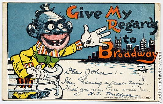 1900s_Postcard-Give_My_Regards_To_Broadway