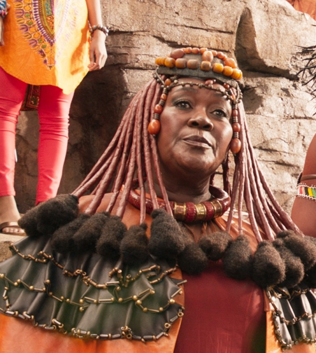 Marvel Studios' BLACK PANTHER..Mining Tribe Elder (Connie Chiume)..Ph: Film Frame..©Marvel Studios 2018