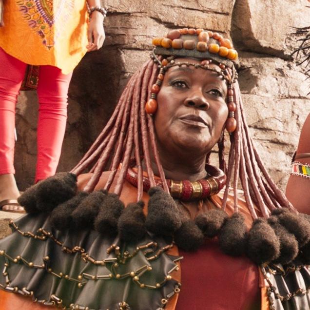 Marvel Studios' BLACK PANTHER..Mining Tribe Elder (Connie Chiume)..Ph: Film Frame..©Marvel Studios 2018
